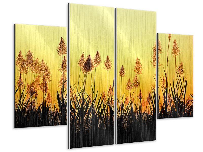 Metallic-Bild 4-teilig Die Blumen des Feldes