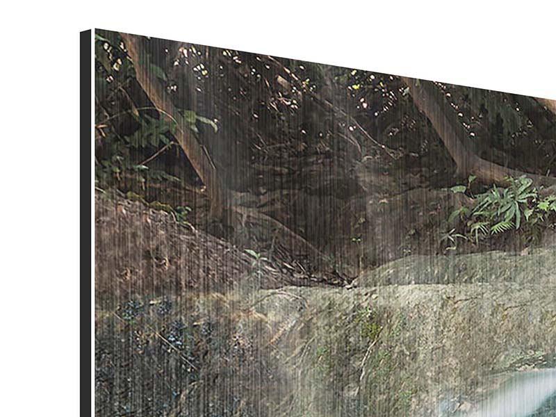 Metallic-Bild 4-teilig Am Fluss des Lebens
