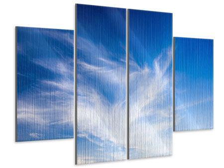 Metallic-Bild 4-teilig Schleierwolken