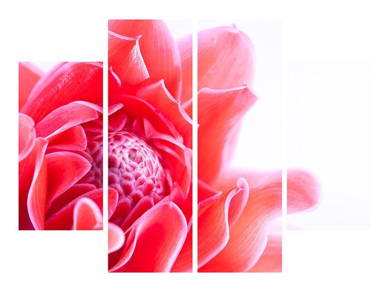 Metallic-Bild 4-teilig Etlingera XXL