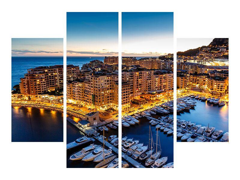 Metallic-Bild 4-teilig Monaco