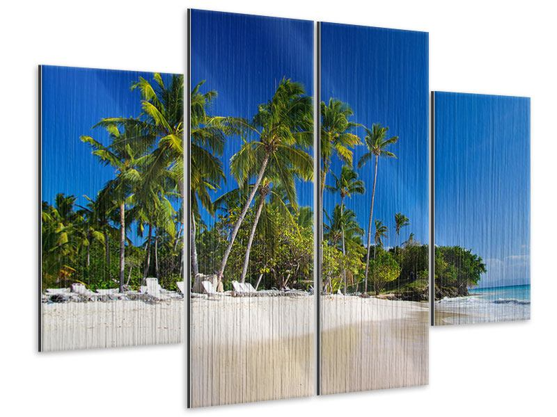 Metallic-Bild 4-teilig Aloha