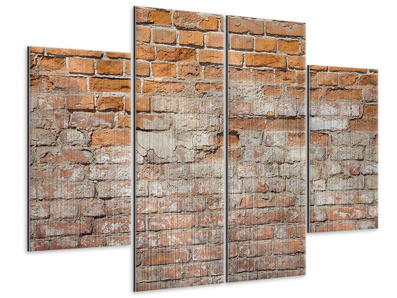 Metallic-Bild 4-teilig Alte Klagemauer