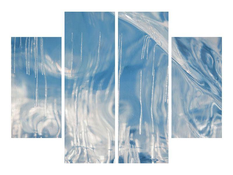 Metallic-Bild 4-teilig Das Eis des Baikalsees