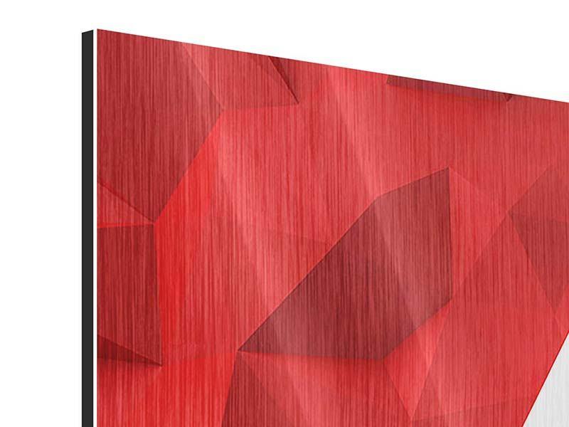 Metallic-Bild 4-teilig 3D-Stern