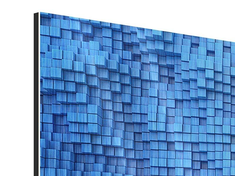 Metallic-Bild 4-teilig 3D-Mosaik
