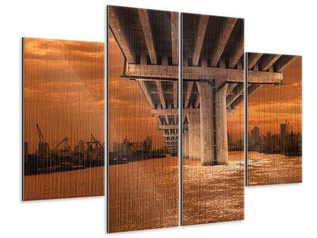 Metallic-Bild 4-teilig Die Brücke