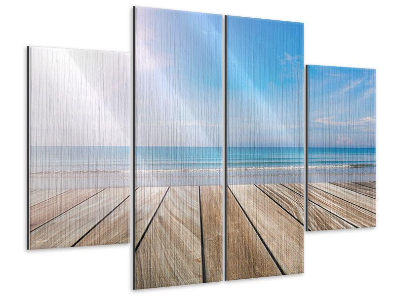 Metallic-Bild 4-teilig Das schöne Strandhaus