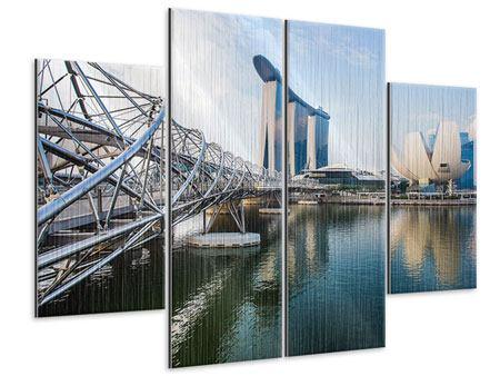 Metallic-Bild 4-teilig Singapur
