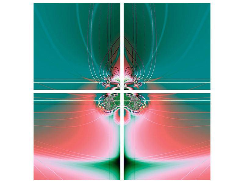 Metallic-Bild 4-teilig Fever