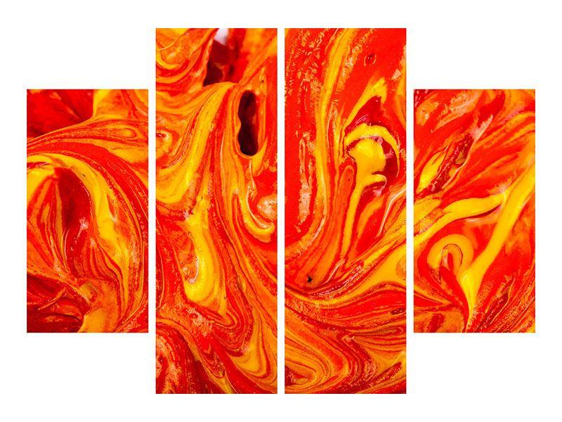 Metallic-Bild 4-teilig Wandgemälde