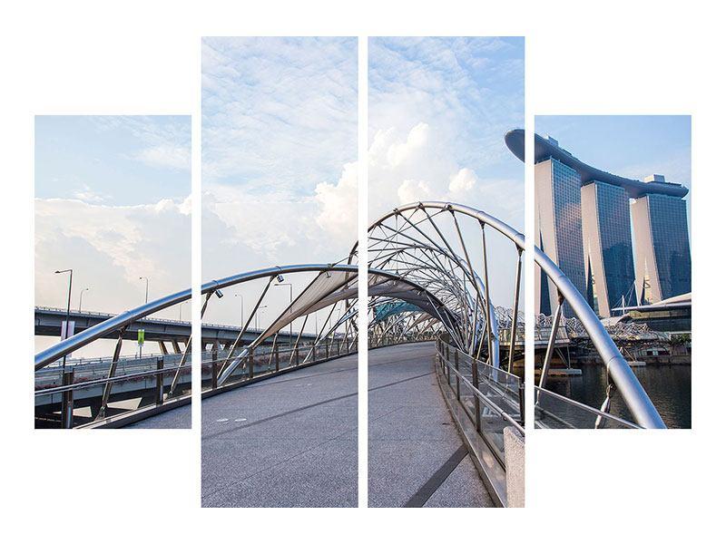 Metallic-Bild 4-teilig Helix-Brücke