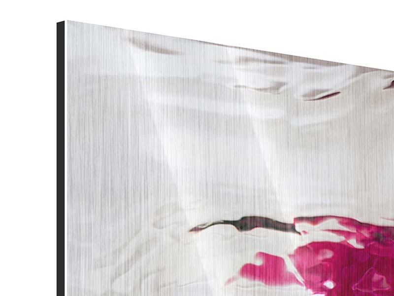 Metallic-Bild 4-teilig Die Rosenspiegelung