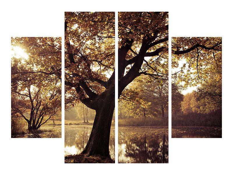 Metallic-Bild 4-teilig Landschaftspark