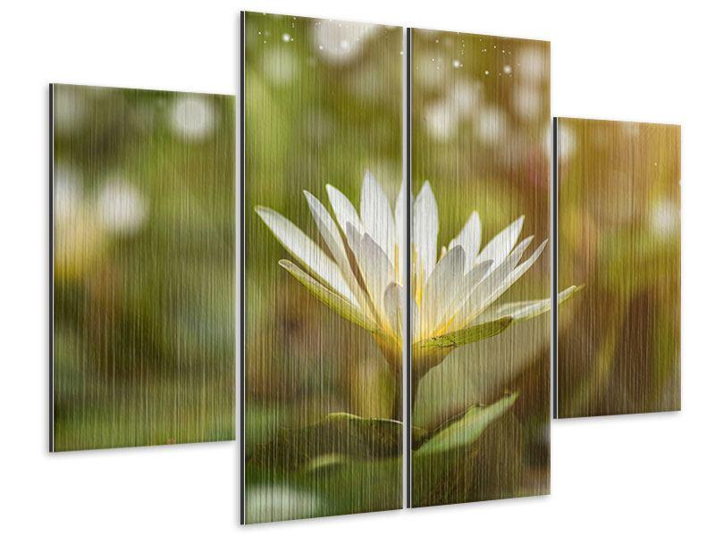 Metallic-Bild 4-teilig Lilien-Lichtspiel