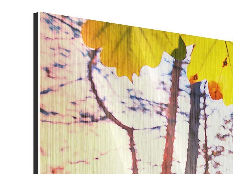 Metallic-Bild 4-teilig Herbst