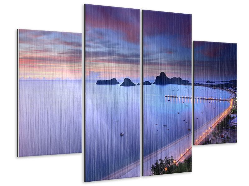 Metallic-Bild 4-teilig Ano Manao Bucht