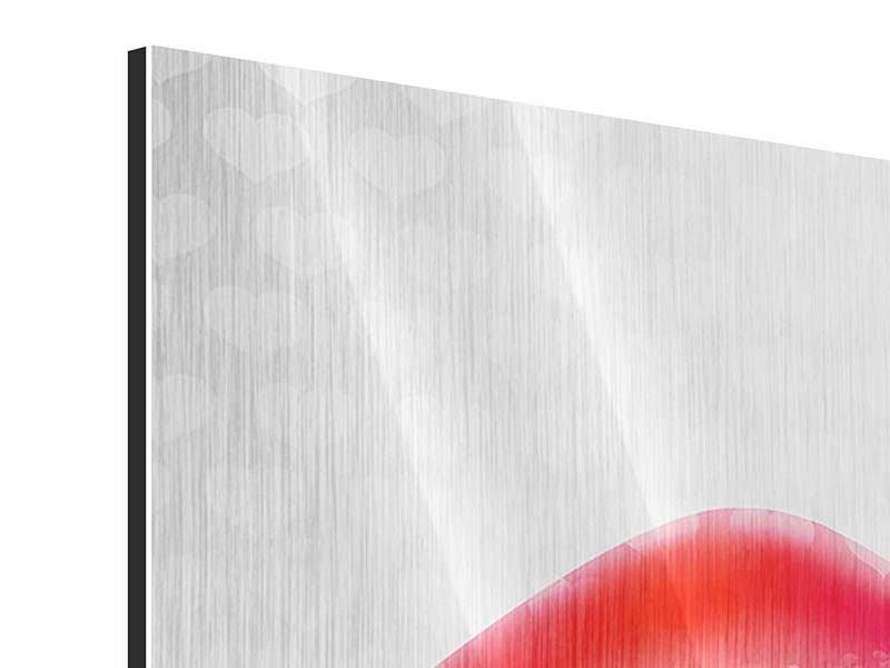 Metallic-Bild 4-teilig Kuss