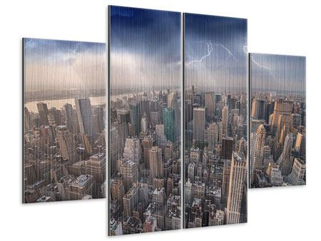 Metallic-Bild 4-teilig Manhattan