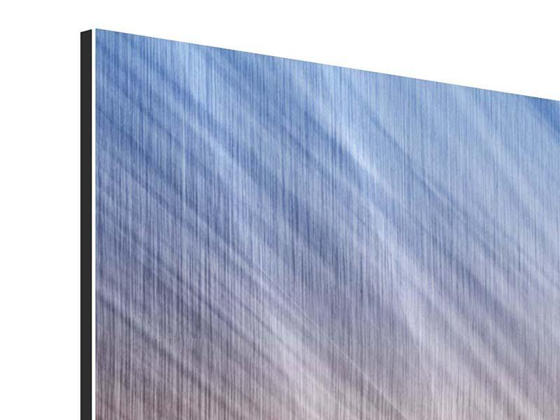 Metallic-Bild 4-teilig Abstraktes Lichterspiel
