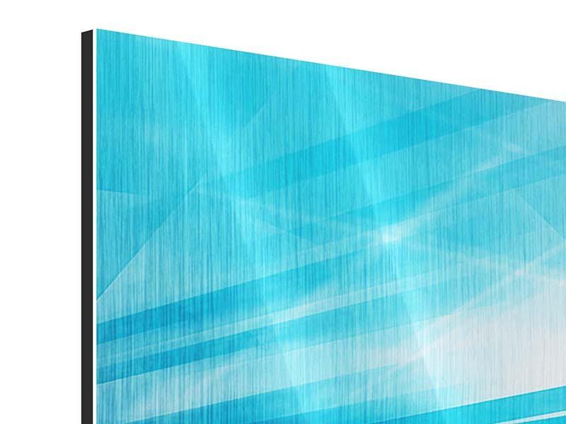Metallic-Bild 4-teilig Abstrakte Lasershow