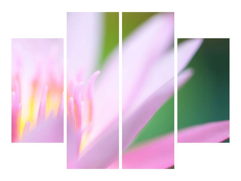 Metallic-Bild 4-teilig XXL-Lilie