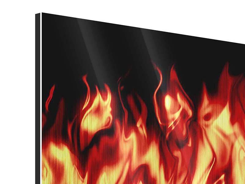 Metallic-Bild 4-teilig Feuerwasser