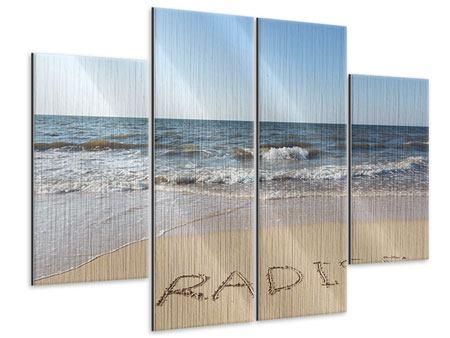 Metallic-Bild 4-teilig Sandspuren