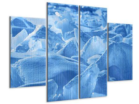 Metallic-Bild 4-teilig Eis des Baikalsees