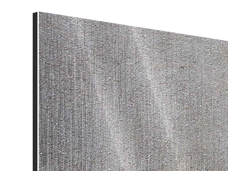 Metallic-Bild 4-teilig Beton in Dunkelgrau