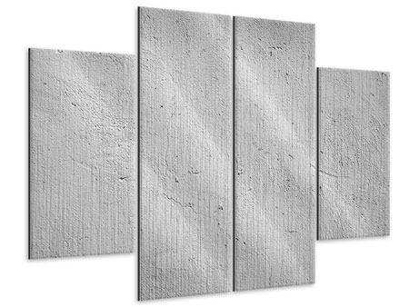 Metallic-Bild 4-teilig Beton