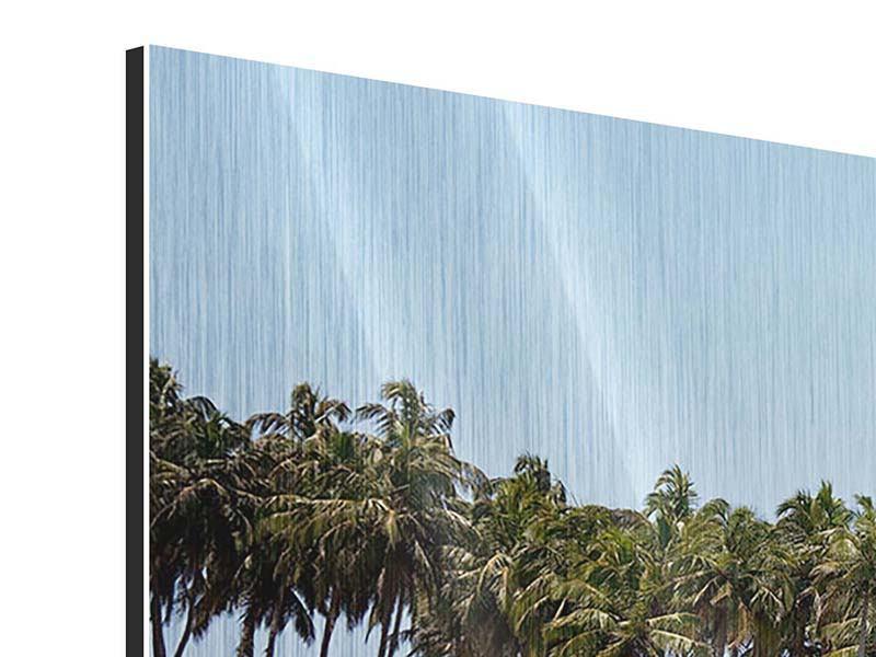 Metallic-Bild 4-teilig Das Meer und die Insel
