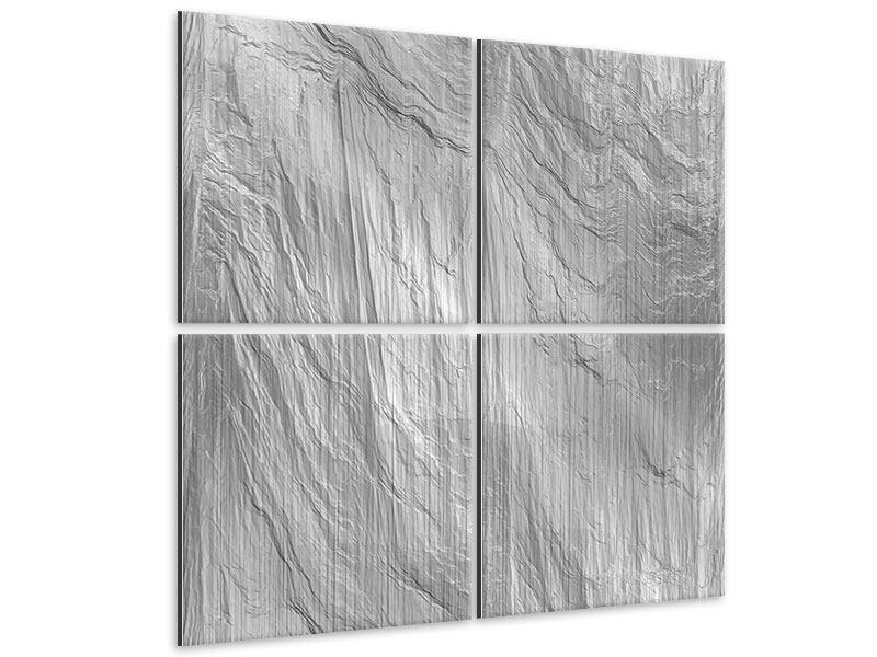 Metallic-Bild 4-teilig Icewall