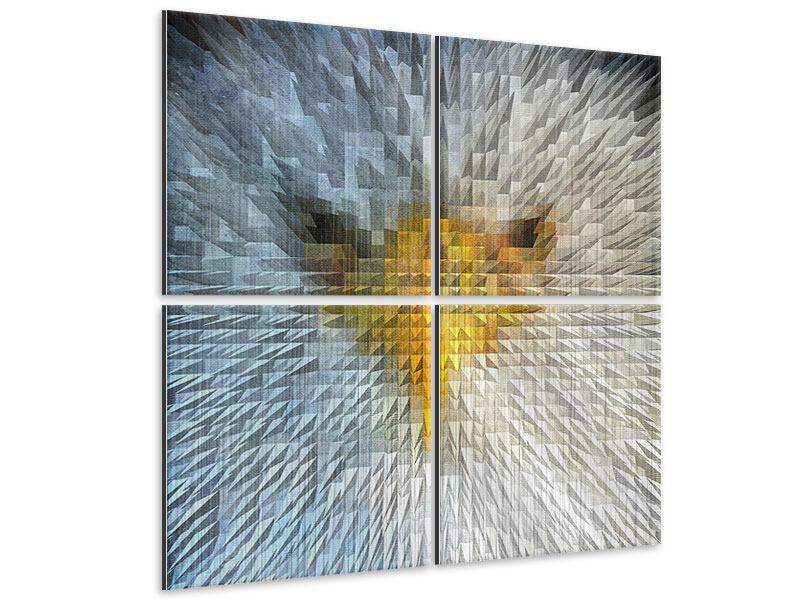 Metallic-Bild 4-teilig Adler