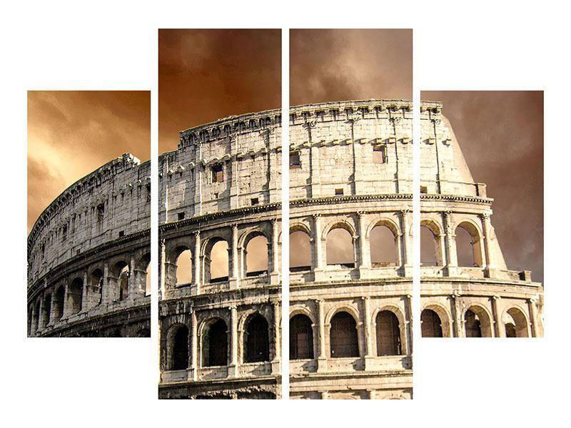 Metallic-Bild 4-teilig Kolosseum Rom