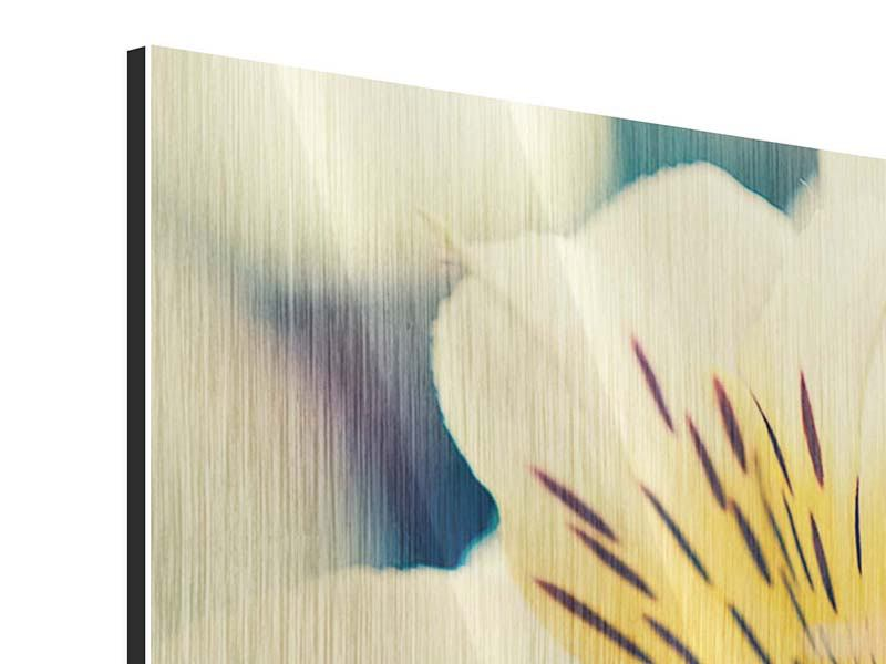 Metallic-Bild 4-teilig Tigerlilien