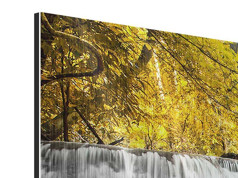 Metallic-Bild 4-teilig Wasser in Aktion