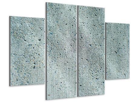 Metallic-Bild 4-teilig Beton in Grau
