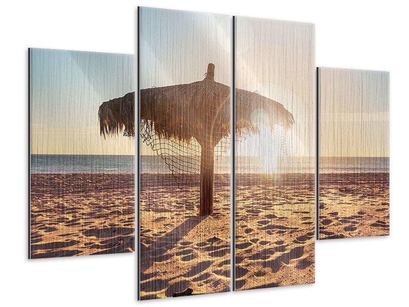 Metallic-Bild 4-teilig Der Sonnenschirm