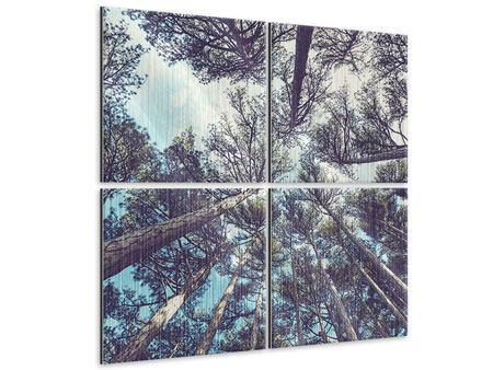Metallic-Bild 4-teilig High in the Sky