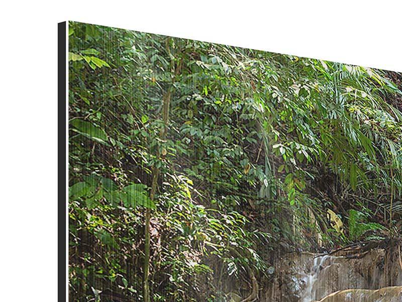 Metallic-Bild 4-teilig Mexikanischer Wasserfall
