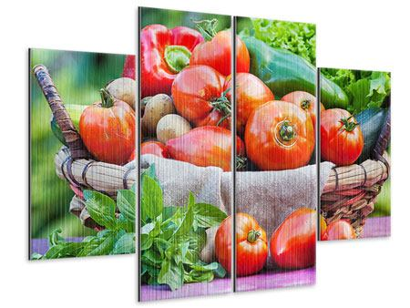 Metallic-Bild 4-teilig Gemüsekorb