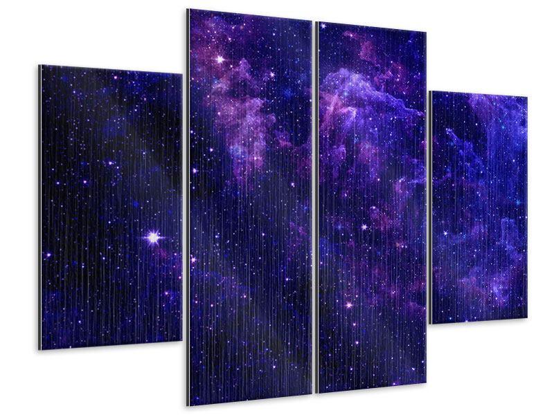 Metallic-Bild 4-teilig Ein Himmel voll Sterne