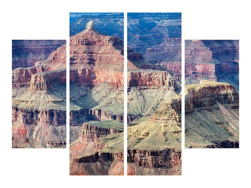 Metallic-Bild 4-teilig Gran Canyon