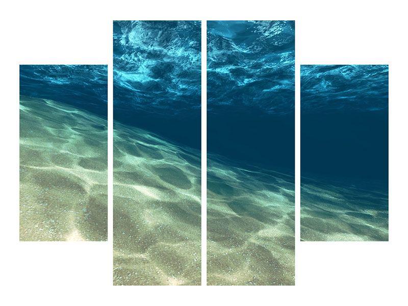 Metallic-Bild 4-teilig Unter dem Wasser