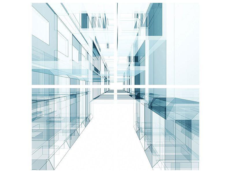 Metallic-Bild 4-teilig Raum der Räume