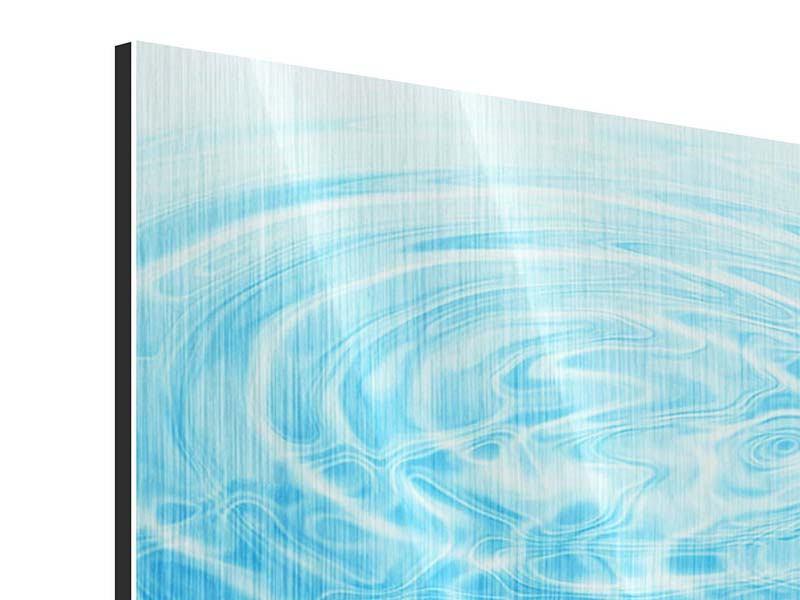 Metallic-Bild 4-teilig Abstraktes Wasserbad