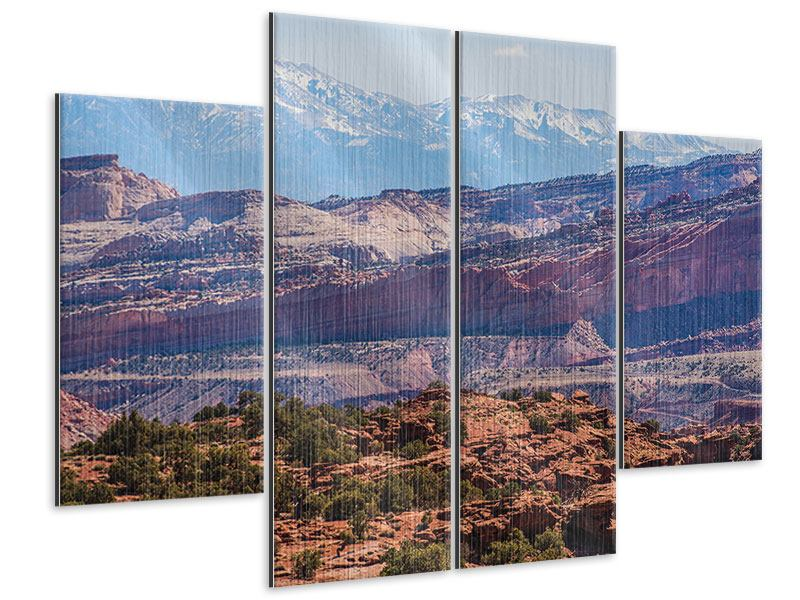 Metallic-Bild 4-teilig Bruce-Canyon-Nationalpark