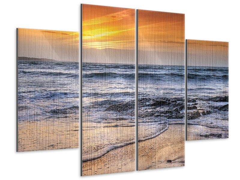 Metallic-Bild 4-teilig Das Meer