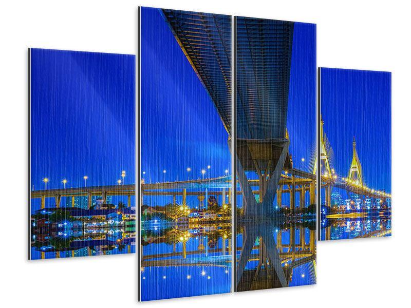 Metallic-Bild 4-teilig Bhumiboll-Brücke